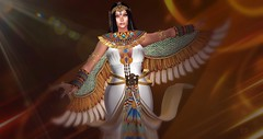 Queen of Egypt (christophersaxton) Tags: sl secondlife second life digital egypt queen woman fantasy