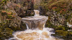 Rush... (Lee Harris Photography) Tags: water river waterfall waterfalls yorkshire ingleton rock rocks rugged landscape nature power flow longexposure outdoor colours colourful light contrast uk england