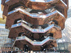 Vessel Stair Case Sculpture Dingus at Hudson Yards 4127 (Brechtbug) Tags: 2019 march visiting the vessel sculpture hudson yards tower near 34th street midtown manhattan new york city nyc 03172019 west side construction center cityscape architecture urban landscape scape view cityview shadow silhouette december close up skyline skyscraper railroad rail yard train amtrak tracks below grown stair stairs buildings above staircase dingus