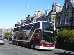 Lothian 1069 southbound on Comiston Road, Edinburgh. (calderwoodroy) Tags: lothiancity enviro400xlb alexanderdennis adl b8l volvo sj19owc 1069 service11 lothian edinburghtransport transportforedinburgh lothianbuses lothianbusescentenary lothian100 doubledecker bus comistonroad comiston edinburgh scotland