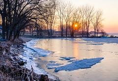Frozen Winter Morning (Neil Cornwall) Tags: 2019 canada kingsville lakeerie lakesidepark march ontario ice sun sunrise winter