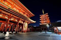 淺草觀音寺 Asakusa (Vincent_Ting) Tags: 淺草 雷門 仲見世通 晴空塔 temple 觀音寺 asakusa tokyo japan culture street 街道 nightscape