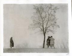 bromoil:girlfriends, 1970s (Alexander Tkachev) Tags: alternativephotography alexandertkachev bromoil fomabrom113bo friends