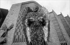 knife angel (generalzorn) Tags: knifeangel coventry pentaxk1000 vivitar19mm ilforddelta100 film