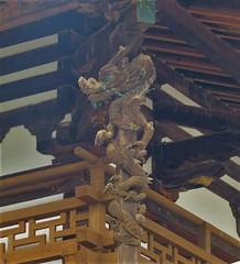 Horyu-ji Temple Dragon (tom_2014) Tags: dragon horyuji horyujitemple unesco worldheritage worldheritagesite statue history japan japanese kansai 8thcentury temple nara building kondo sculpture buddha buddhist japanesetemple buddhisttemple hall templecomplex famous landmark yamato yamatoplain asia asian eastasia architecture art religiousarchitecture roof