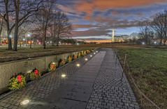 Christmas Eve Morning at the Wall (D. Scott McLeod) Tags: vietnam veterans vietnamveteransmemorial thewall night washingtondc nationalmall memorial dc districtofcolumbia dscottmcleod scottmcleod wreathsacrossamerica christmas