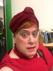 Day 2484: Day 294: Turban (knoopie) Tags: 2018 october iphone picturemail greenroom ericksontheatre casavalentina theater bessie doug knoop knoopie me selfportrait 365days 365daysyear7 year7 365more day2484 day295
