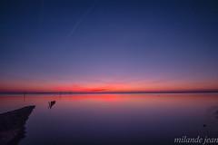 sunset andernos (jean milande) Tags: cocher sunset rose bleu couleur tranquillité calme ciel mer plage