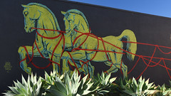Working Stronger Together (remiklitsch) Tags: mural pico beautifyearth la city streetart nikon remiklitsch lucazamoc color colorful art blue red yellow horses urban santamonica losangeles