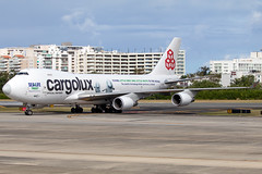 LX-ECV (Hector A Rivera Valentin) Tags: cargolux boeing 747400 freighter whales belugas beluga sanctuary livery sea life trust flying little grey white ocean 2019 special canon canon80d canon70300 sun light clouds lightroom photoshop