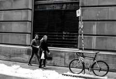 Walking Along Temperance St (Bill Smith1) Tags: believeinfilm billsmithsphotography canonnewf1 fdn50f14lens hc110b heyfsc kodaktrix4001600 toronto