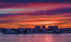 Sunset Boca Ciega Bay (vwalters10) Tags: sunset bay water clouds sky buildings florida flickrexploreme