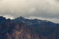 Snow way up (raptoralex) Tags: superstitionmountains superstitions apachejunction arizona mountains snow canon canon60d 70200f28 70200