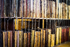 The Chained Library (judy dean) Tags: judydean 2019 hereford lensbaby cathedral library chains chainedlibrary religiousbooks medieval