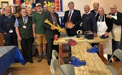 Visiting Macmerry men's shed