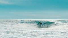 Turquoise (Hanna Tor) Tags: ocean sea wave water surf blue tranquility seascape sky sport one person turquoise clouds beach shore coast coastline shoreline still life rest resting motion exercise ride action shorebreak scenic man adventure hannator travel california