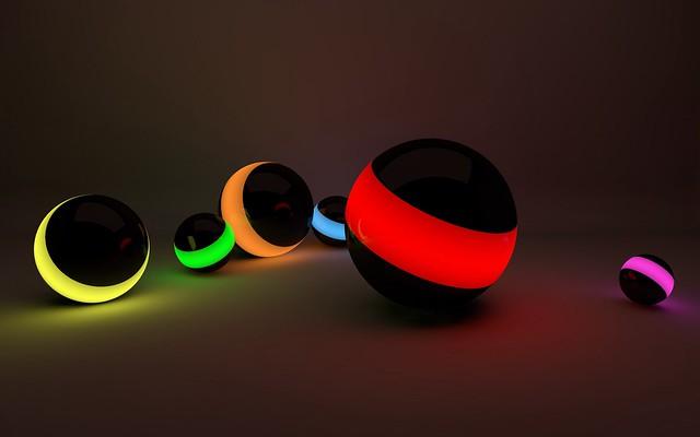 Обои шары, линии, неон, свет картинки на рабочий стол, фото скачать бесплатно