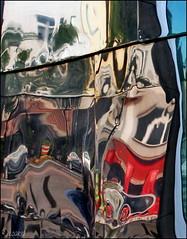 City breakdown (Logris) Tags: surrealism surrealismus surrealistic surrealistisch surreal reflection reflections spiegelung spiegelungen fantasie fantasy abstrakt abstract