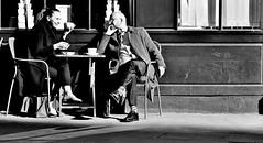 Fun In The Sun (jaykay72.) Tags: london uk street candid streetphotography greattowerstreet stphotographia blackandwhite bw