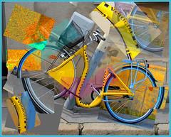 Surrealistic Bicycle (Runemaker) Tags: surrealism surrealistic cubism cubist bicycle tours france