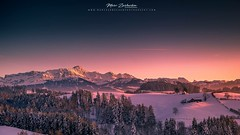 Säntis_II (Marc Zurbuchen Fotografie) Tags: säntislandscape landschaft wandern sunsethikehikingfineartredwintersnowschnee sunset winter fineart alpstein switzerland hike hiking snow nature mountain sky