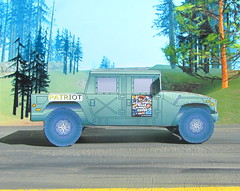 The Patriot Hummer Military Vehicle Paper Model And Tommy Vercetti Paper Figure From PS2 Grand Theft Auto Vice City Game : Diorama GTA San Andreas Game Scenery - 11 Of 14 (Kelvin64) Tags: the patriot hummer military vehicle paper model and tommy vercetti figure from ps2 grand theft auto vice city game diorama gta san andreas scenery