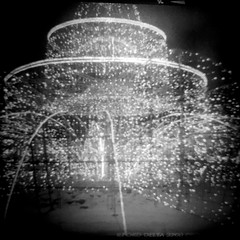 Silver Fontaine (Listenwave Photography) Tags: 6x6 filmofone picture blackwhite bw victar cooks triplets 4575 lamps lamp fontain ilford3200 lights silvers experience focusfree listenwavephotography light abstract art ilford nofocus weltax welta