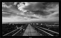 Skywalk I (Dierk Topp) Tags: a7r bw himmel ilce7r ir sonya7rir architecture atlantic canaryislands clouds infrared infrarot islascanarias lapalma lava monochrom sw sony volcanos wolken
