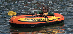 Explorer (Scott 97006) Tags: woman female raft river water or paddles lady shades float ors