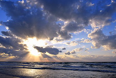 Sunrays (Roi.C) Tags: sunset sunlight sunbeams light cloud clouds cloudscape sky skyline wave waves water beach sand sea seascape landscape season reflection outdoor outside serene israel word nikon d5300 nikkor 2017 travel color colour colors lighting nature camera digital photography photograph photo view composition sun sunrise 28140mm framing frame february ocean world naturephotography sharp lens trip colours mediterraneansea sunrays romanticsunset eveningsunset sundaylights