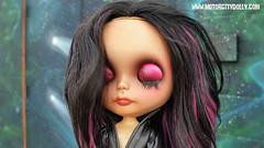 Sasha (Motor City Dolly) Tags: blythe doll custom customized eyelid lid art smokey eye street alpaca hair