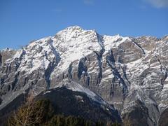 The Alps (gwackamo) Tags: alps italy mound rock blue mountain red hill slope skiiing bormio