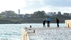 On the Quay (patrick_milan) Tags: portsall finistere family children woman water eau mer sea quay