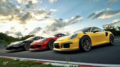 911 x 3 (chumako@bellsouth.net) Tags: scapes playstation ps4 gaming track cars germany nürburgring gt3rs 911 porsche