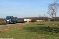 Bentheimer Eisenbahn D21 - Beerze 16-02-2019. (NovioSites) Tags: 50148 be bentheimereisenbahn coevordenshuttle coevorden d21 v204 trein train zug loc locomotive rail netherlands holland vossloh g2000 beerze mariënberg omgeleid diverted