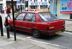 1988 Peugeot 309 GE (occama) Tags: e680uvp 1988 peugeot 309 ge star red old car cornwall uk rare 1390