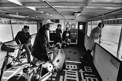 One day 570 (soyokazeojisan) Tags: japan osaka city ferryboat people bw blackandwhite sea monochrome analog olympus m1 om1 21mm film trix kodak memories 1970s