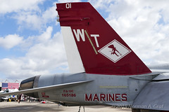"""McDonnell Douglas F/A-18C Hornet of Marine Fighter Attack Squadron 232 (VMFA-232) """"Red Devils"""" from MCAS Miramar (Norman Graf) Tags: 165186 vmfa232 cagbird 3rdmaw airplane 2017mcasmiramarairshow mag11 aircraft boeing fa18 airshow fa18c usmc marineaviation reddevils 3rdmarineaircraftwing attack carrierairgroup f18 f18c fighter hornet jet mcasmiramar marineaircraftgroup11 marinefighterattacksquadron232 marines mcdonnelldouglas plane unitedstatesmarinecorps wt01"""