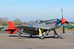 G-SIJJ North American P-51D Mustang Wellesbourne Mountford 14/2/19 (David K- IOM Pics) Tags: wellesbourne mountford airfield egbw gsijj north american p51 p51d mustang usaf red tail