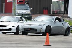 Tandem (Find The Apex) Tags: nolamotorsportspark nodrft drifting drift cars automotive automotivephotography nikon d800 nikond800 nissan 350z nissan350z z33 240sx nissan240sx s13 tandemdrift tandem tandemdrifting tandembattle