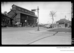 1931 Broadway and madison  - McEwan Coal storage on left and Hudson Navigation (dayboats) docks and sheds on right (albany group archive) Tags: 1930s old albany ny vintage photos picture photo photograph history historic historical