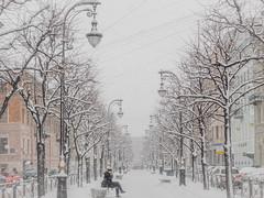 Coffee (rsvatox) Tags: saintpetersburg snowfall blizzard winter street people boulevard white snow cold