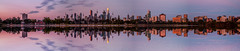 Melbourne Panorama (Jared Beaney) Tags: canon canon6d australia australian photography photographer travel melbourne panorama city cityscapes cityscape reflections reflection sunset victoria
