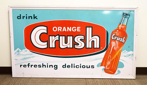 Orange Crush Soda Lithograph Metal Sign ($2,016.00)
