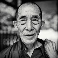 A headshot of old man in Guizhou-Square (snowpine) Tags: street streetphotography streetportrait people portrait oldman headshot square bw blackandwhite blackwhite china