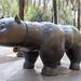 Die El Gat del Raval - Katzenstatue des Kolumbianers Fernando Botero, steht im Stadtteil Raval in Barcelona, Spanien