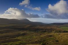 Ribblehead_03 (julesh1966@googlemail.com) Tags: ribbleheadviaduct northyorkshire yorkshiredales sunrise clouds railway landscape grassland ingleborough colour autumn ariel drone