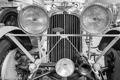 Brooklands44.jpg (Colin Dorey) Tags: lagonda headlights radiator bw monochrome blackandwhite blackwhite brooklands museum cars motorcar weybridge surrey uk