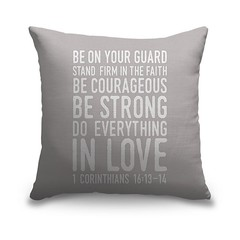 1 Corinthians 16 13 14 Scripture Art In White And Grey - Handlettered Bible verse reading Be on your guard; stand firm in faith; be courageous; be strong; do everything in love.   Check out our website: https://spaceplug.com/1-corinthians-16-13-14-scriptu (spaceplug) Tags: photooftheday gift shop mood buy like4like cute products amazing decor bible canvas marketplace spaceplug like sell photo nice home followus pillow canvasdemand style photography follow4follow