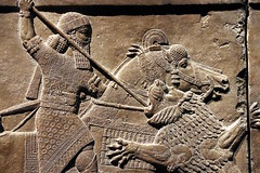 Spearing a Lion (calmeilles) Tags: london england unitedkingdom ashurbanipal britishmuseum middleeast nineveh